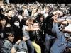 DEU, Berlin 02.06.1990 - Hooligans im Jahnsportpark-Stadion am 02. Juni 1990 in Berlin-Prenzlauer Berg. Kurz nach der Wende war in Ost-Berlin ein gesetzesleerer Raum entstanden, in dem rechtsradikale Uebergriffe und Handlungen moeglich wurden. Fussballspiele waren auch eine Plattform dafuer. - Jose Giribas/imges.de [©(c)images.de, Berlin, Germany; Veroeffentlichung nur gegen Honorar, Urhebervermerk und Belegexemplar. Verwendung des Bildes au§erhalb journalistischer Berichterstattung bedarf besonderer schriftlicher Vereinbarung. Attention: NO MODEL-RELEASE! Please see Details on our Website or contact us: www.images.de - Bank Details: Kto. Deutsche Bank, BLZ 10070000, Kto.Nr. 0414862; Contact: E-Mail info@images.de, Telefon: +49 30 59 00 69 50, Fax +49 30 59 00 69 59]