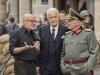 il regista Schlondorff e i due maatatori sul set di Diplomatie
