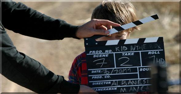 Sul set di Kid in the Box