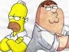 Homer Simpson VS Peter Griffin